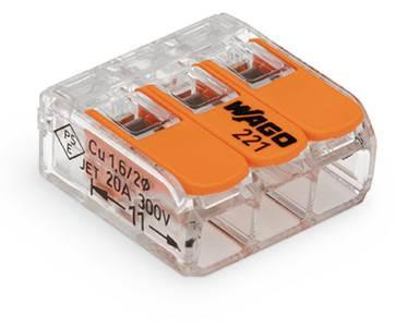 Szybkozłącze 3x 4 linka/drut uniw.transpar. 1szt.