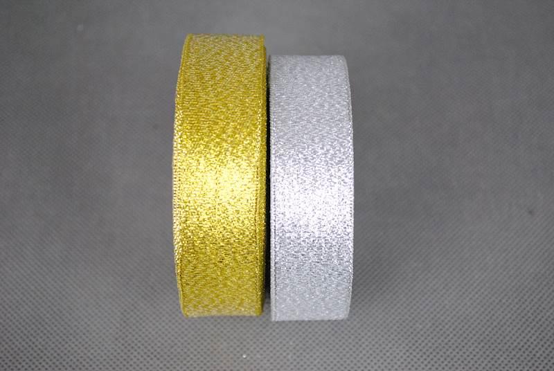 Wstążka  srebro,złoto