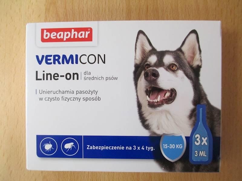 krople VERMICON DOG M 3x3ml 15-30kg
