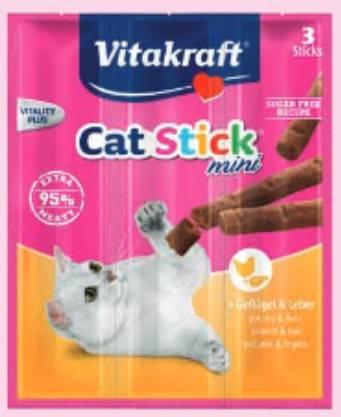 VITAKRAFT CAT STICK MINI 3szt DRÓB/WĄTRÓBKA