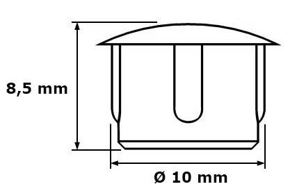 Zaślepka Ø 10 mm, ciemny brąz, 100 szt.