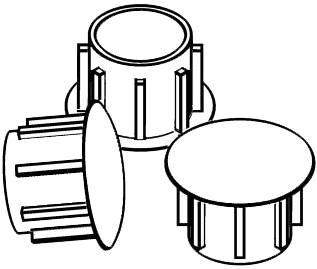 Zaślepka Ø 8 mm, czarny RAL 9005, 100 szt.
