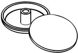 Zaślepka na dyble  Ø 15 mm, antracyt RAL 7016, 100 szt.