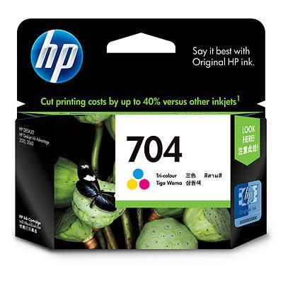 TUSZ DO HP 704 KOLOR ORYGINALNY