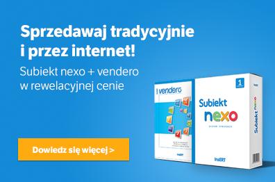 Subiekt nexo + vendero w rewelacyjnej cenie!