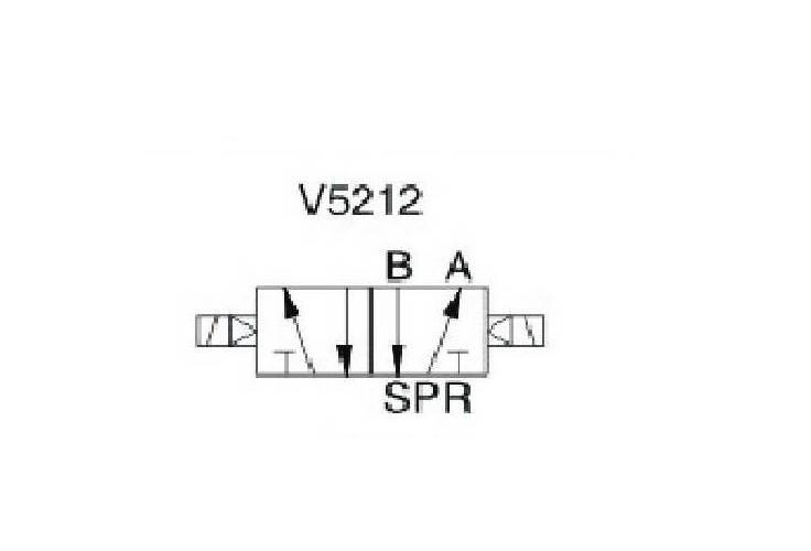 """EMC V5212-06A ELEKTROZAWÓR PIĘCIODROGOWY 5/2 1/8"""""""