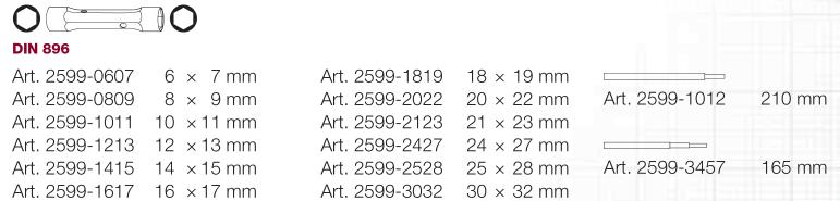 KW 2599-2528 KLUCZ RUROWY 25X28 MM