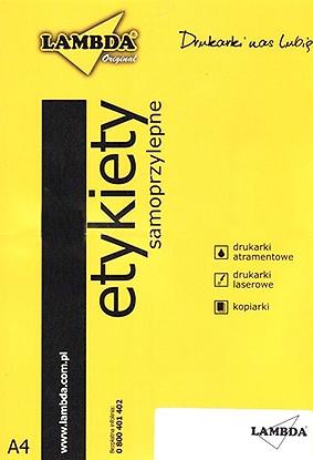 ETYKIETY SAMOPR [010] 105x57 100szt LAMBDA